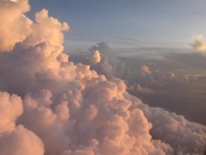 Nubes rosadas