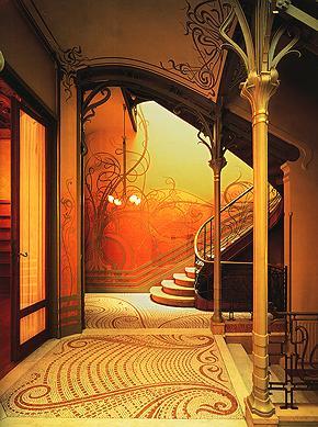 victor horta escalera Casa Tassel